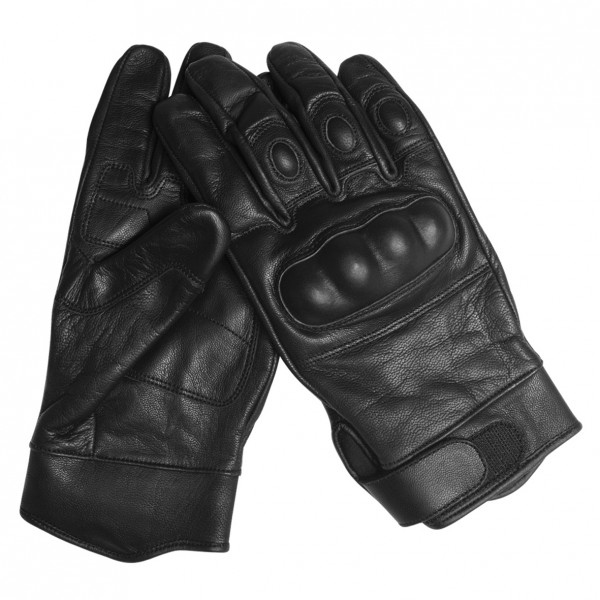 Tactical Gloves Leder, schwarz