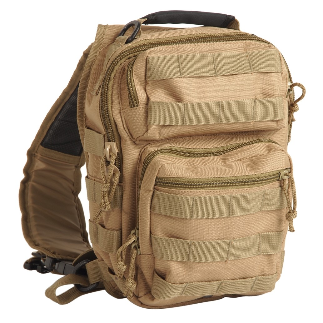 One Strap Assault Pack Rucksack Small, 11 L, coyote