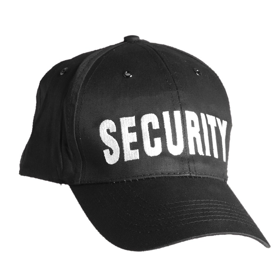 Baseball Cap SECURITY, schwarz