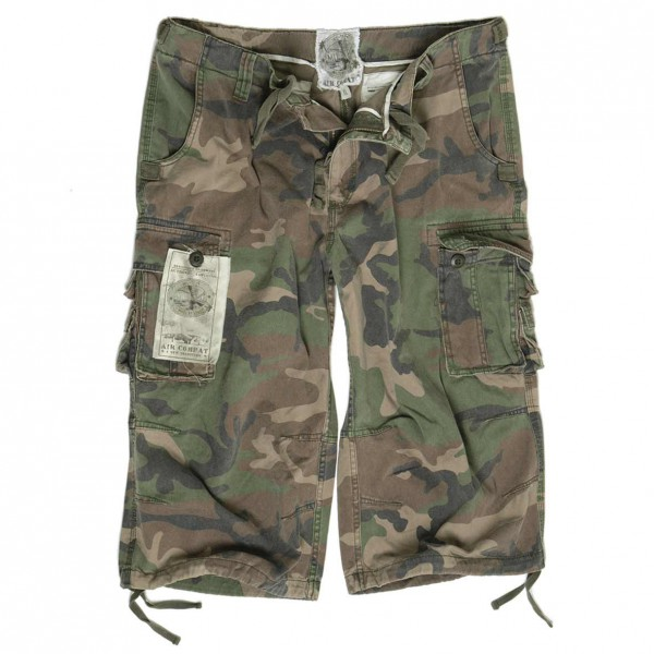 Air Combat 3/4 Pants Prewash, woodland