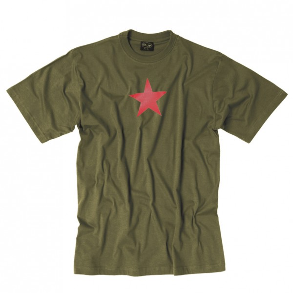 T-Shirt Red Star, oliv